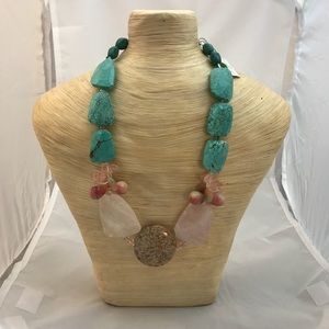 Gemi Precious Pink Turquoise Necklace